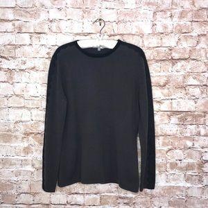 Neiman Marcus Cashmere Sweater w/ Lace Trim Sz XL